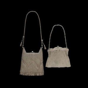 Expertissim - deux sacs de soirée en argent cote de maille - Borsa
