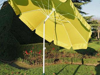 PROLOISIRS - parasol rond 2,70m jaune avec baleines fibre de ve - Ombrellone
