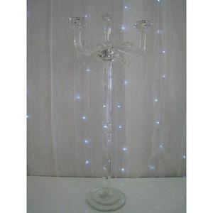 DECO PRIVE - chandelier a 5 branches en cristal 85 cm - Candelabro