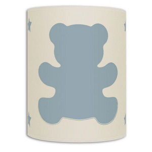 Art et Loupiote - ours bleu - Applique Bambino