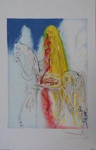 ARMAND ISRAËL - lady godiva de salvador dali lithographi - Litografia