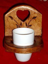 DECO CHALET MONTAGNE - porte gobelet / porte brosse a dents en bois style - Portabicchiere Per Spazzolini