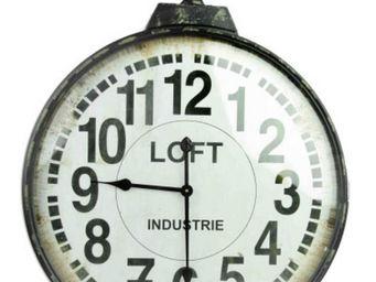 Antic Line Creations - horloge industrielle loft - Orologio A Muro