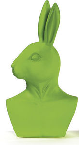 BADEN - statuette buste de lapin vert - Statuetta