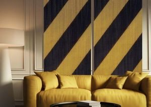 KRISKADECOR - stripes black & gold - Decorazione Murale