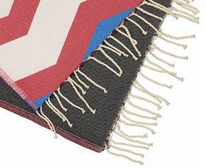 FUTAH BEACH TOWELS - odeceixe rouje & noir - Telo Hammam