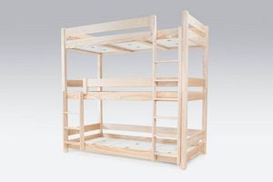 ABC MEUBLES - abc meubles - lit superposé abc 3 places en bois massif 90x190 brut 90x190 - Altri Varie Arredo Camera Da Letto