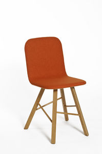 COLE - --tria simple wood chair upholstered - Sedia