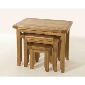 Abode Direct - bordeaux oak nest of tables - Tavolini Sovrapponibili