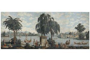 Carolle Thibaut-Pomerantz - les rives du bosphore - Carta Da Parati Panoramica