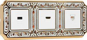 FEDE - palace crystal de luxe siena collection - Presa Multimediale