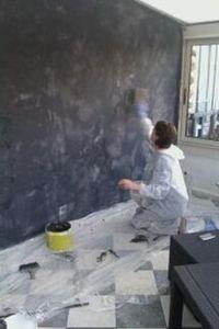 COQUELICOT -  - Pittura Murale Effetto Materia