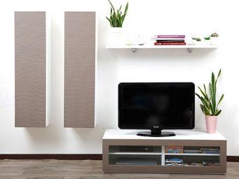 Miliboo - symbiosis compo 11 structure blanche - Mobile Tv & Hifi