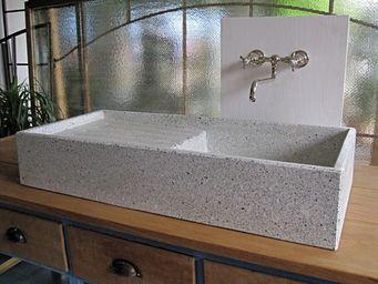 Replicata - terrazzo-spülstein weiss geschliffene oberfläche - Lavello Da Appoggio