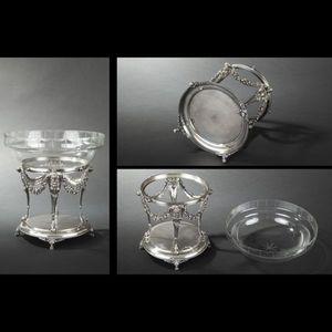 Expertissim - coupe centre de table en métal argenté - Poltrona Bergère