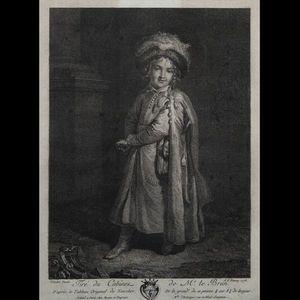Expertissim - trois gravures en noir du xviiie siècle - Incisione