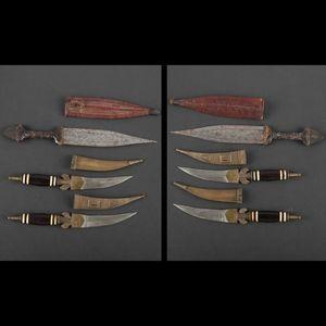 Expertissim - ensemble de six poignards, afrique - Pugnale