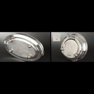 Expertissim - ensemble de trois chauffe-plats en métal doublé - Scaldapiatto