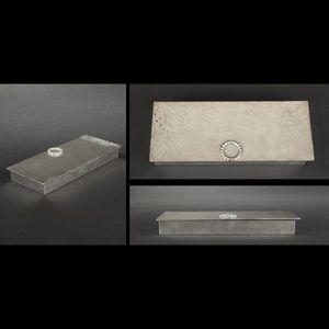 Expertissim - jean desprès. boîte en métal argenté - Scatola Portapenne