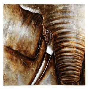Maisons du monde - toile gold éléphant - Tela