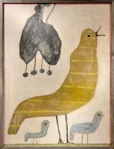 Sugarboo Designs - art print - mama loves her baby birds - Quadro Decorativo Bambino