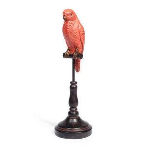 MAISONS DU MONDE - perroquet museum rouge - Figurina