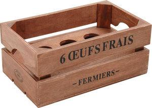 Aubry-Gaspard - boîte à oeufs en bois - Cesto Portauova