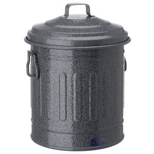 La Chaise Longue - poubelle de table en métal gris 16x14cm - Pattumiera Da Cucina