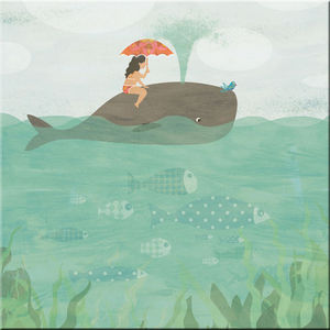 DECOHO - balade en baleine - Quadro Decorativo Bambino
