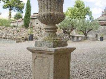 TERRES D'ALBINE - vase medicis cannelé - Vaso Medici