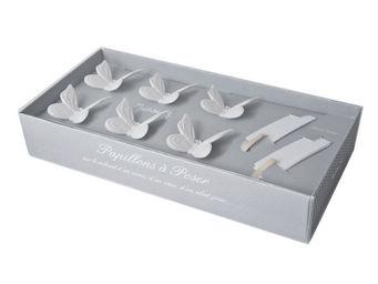 Mathilde M - coffret 6 papillons marque-place - Segnaposto