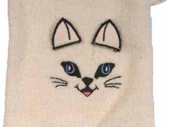 SIRETEX - SENSEI - gant de toilette enfant en forme de chat - Guanto Da Bagno