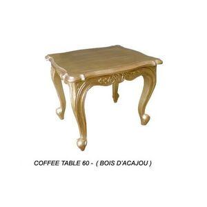 DECO PRIVE - table baroque basse en bois dore 60 cm - Tavolino Di Servizio