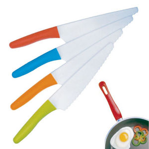 WHITE LABEL - couteau anti-rayure lame en plastique inoxydable - Coltello Da Cucina