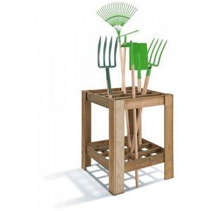 JARDIPOLYS - range-outils de jardinage en bois jardipolys - Portattrezzi Da Giardino