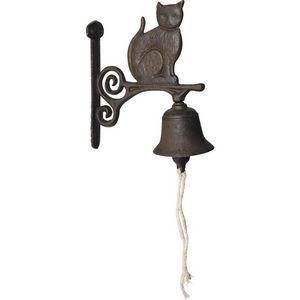 Aubry-Gaspard - cloche de jardin chat en fonte - Campanella Da Esterno