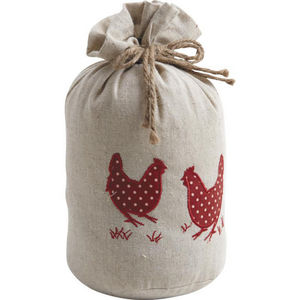 Aubry-Gaspard - cale-porte poules 1,5kg coton lin - Fermaporta