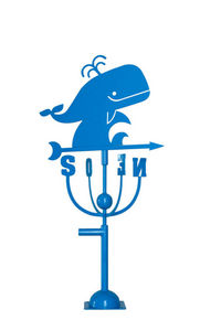Aubry-Gaspard - girouette design baleine bleue - Banderuola Segnavento