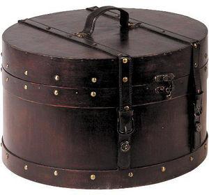 Aubry-Gaspard - boite de rangement orient express en bois teinté e - Cestino Biancheria