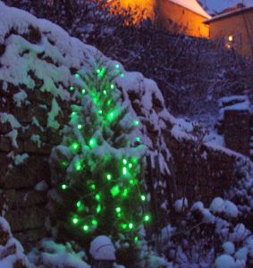 FEERIE SOLAIRE - guirlande solaire 60 leds vertes à clignotements 7 - Ghirlanda Luminosa