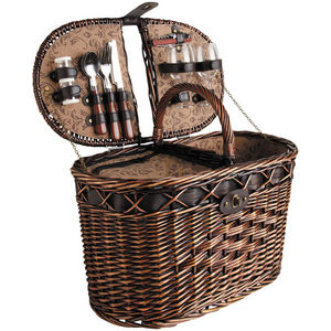 Aubry-Gaspard - panier pique-nique tradition 2 couverts en osier t - Cestino Da Picnic