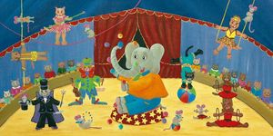 FRANÇOISE LEBLOND - toile sur châssis le cirque de françoise leblond 6 - Quadro Decorativo Bambino