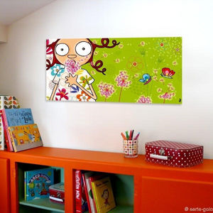 SERIE GOLO - toile imprimée la diseuse de printemps 78x38cm - Quadro Decorativo Bambino