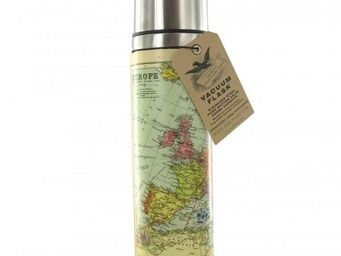 WHITE LABEL - bouteille isotherme carte du monde - Caraffa Termica