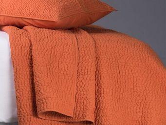BLANC D'IVOIRE - cesar mandarine - Plaid