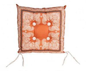 Demeure et Jardin - galette de chaise orange - Coprisedia