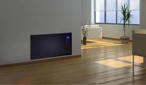 CHEMIN'ARTE - radiateur électrique design noir ecran led 86x9x47 - Radiatore Elettrico