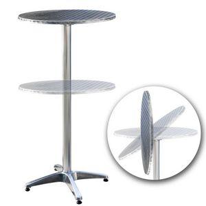 WHITE LABEL - table bistrot rabattable hauteur réglable - Tavolino Alto