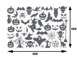 WHITE LABEL - planche de plus de 40 stickers pour halloween - Sticker