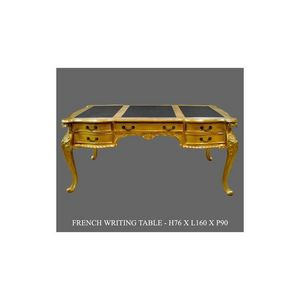 DECO PRIVE - bureau baroque en bois doré modèle chippendale - Scrivania